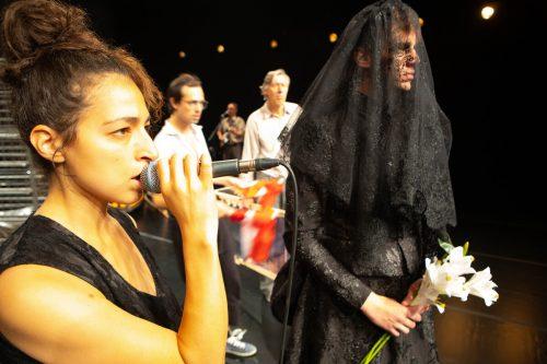 """Die in Vorarlberg uraufgeführte Produktion """"Bürgerliches Trauerspiel"""" des Aktionstheaters wurde von rund 1200 Besuchern gesehen und sehr gut aufgenommen.VN/KH"""