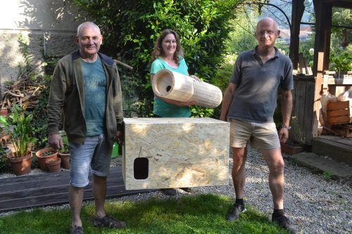 Gerhard Grätzner, Lea Klien und Mathias Mathis suchen Mitstreiter für ihre Arbeitsgemeinschaft zum Schutz von Eulen.