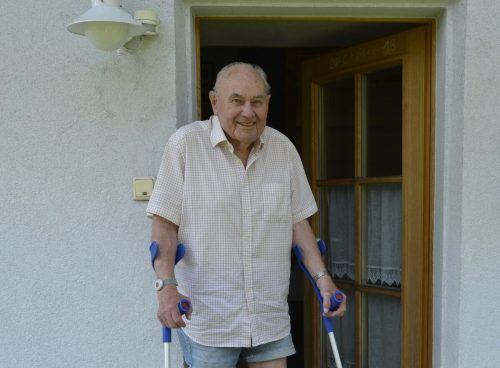 Im hohen Alter von 90 Jahren erinnert sich Hubert Spiegel gerne an die vielen Gipfelerlebnisse am Staufen.eh