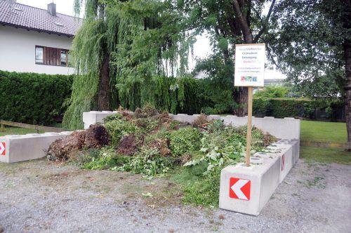 In Hard gibt es nun in der Erlachstraße eine öffentliche Grünmüllsammelstelle.ajk/2