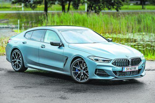 In sportiv-dynamischer Ausformung ist das BMW M850i Gran Coupé gleichsam ein Ausrufezeichen im Straßenverkehr. VN/stiplovsek