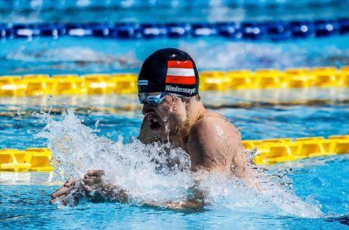 Jan Niedermayer schwamm bei den nationalen Titelkämpfen, die im 50-Meter-Becken in der Grazer Auster ausgetragen wurden, Bronze über 100 m Brust.Niedermayer