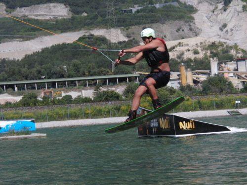 Jonas Müller bewies viel Talent beim Wasserskifahren.ÖRV