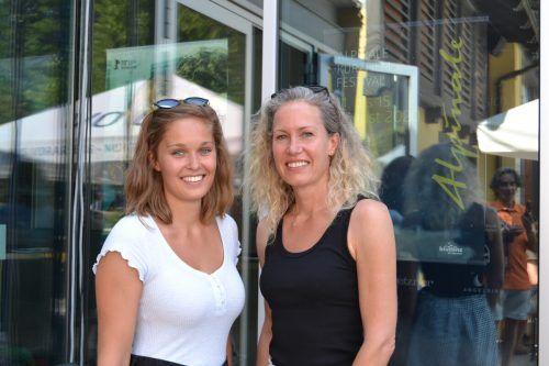 Julia Gantner und Mutter Bianca waren gespannt auf die dargebotenen Kurzfilme.