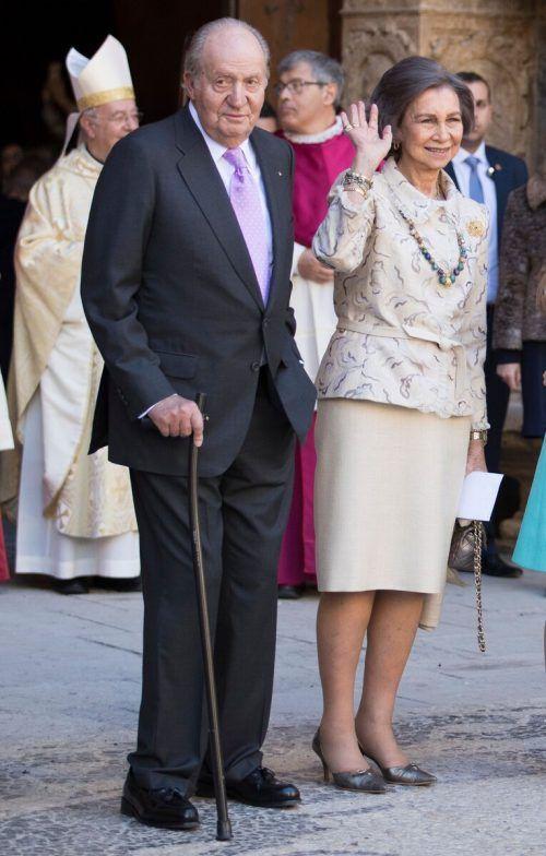 Königin Sophia soll nicht mit ihrem Ehemann Juan Carlos den Zarzuela Palast bei Madrid verlassen haben. AFP