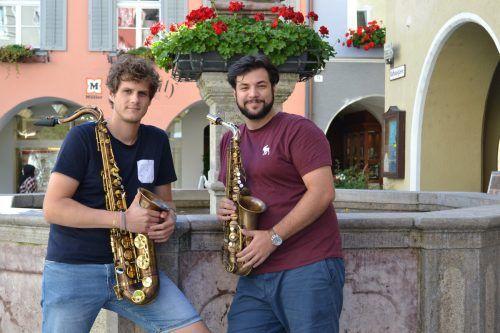 Lukas Morre und Cenk Dogan tragen sehr zur kulturellen Belebung der Stadt Bludenz bei. bi