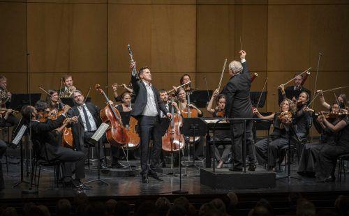 Manfred Honeck und Daniel Ottensamer in Salzburg. SF/M. Borelli