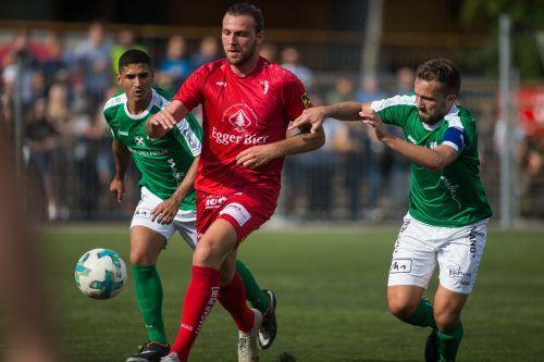 Marcel Meusburger und der FC Egg haben Lokalrivale Alberschwende zu Gast.Ps