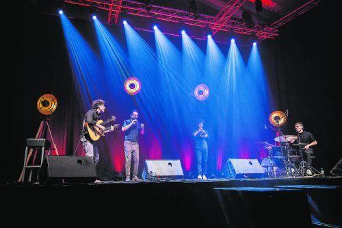 Masaa mit Rabih Lahoud, Marcus Rust (Trompete und Flügelhorn), Reentko Dirks (Gitarre) und Demian Kappenstein (Drums). moosbrugger