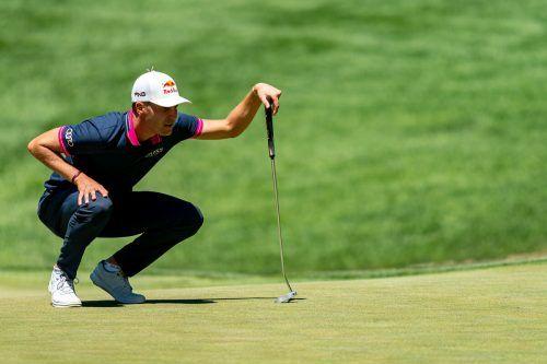 Matthias Schwab holte sich den ersten Podestplatz auf der PGA-Tour.ap