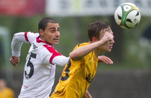 Mit Dursun Karatay (links) spielt nun ein ehemaliger Bundesligatorschütze des Monats für den FC Hörbranz.Steurer