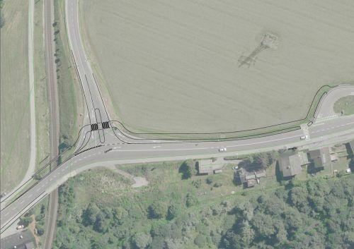 Mit einem neuen Geh- und Radweg samt Brücke soll die Verbindung von bzw. nach Brunnenfeld sicherer werden. Grafik: Stadt