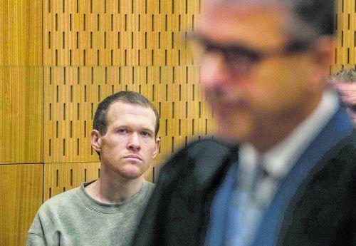 Muss für den Rest seines Lebens hinter Gitter: Rechtsextremist Brenton Tarrant.ap