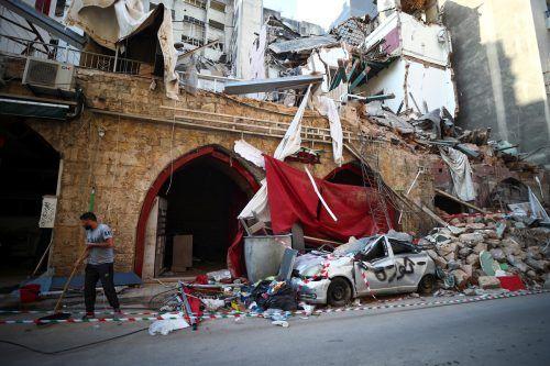 Nach der schweren Explosion gelten weiterhin 20 Menschen als vermisst. Reuters
