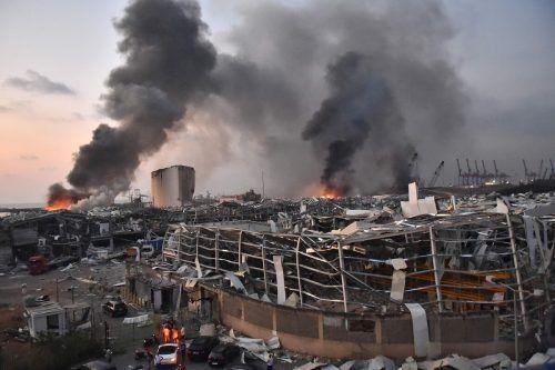 Nachdem die dicken Rauchschwaden abgezogen waren, wurde das ganze Ausmaß der Zerstörung sichtbar. afp