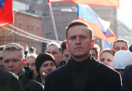 Nawalny, hier auf einer Aufnahme vom Februar, gilt als einer der bekanntesten Widersacher von Kremlchef Putin. reuters