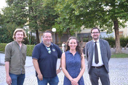 Nikola Bartenbach, Franz Valandro, Daniela Beck und Christof Thöny freuten sich über das Interesse, das die Ausstellung weckte.BI