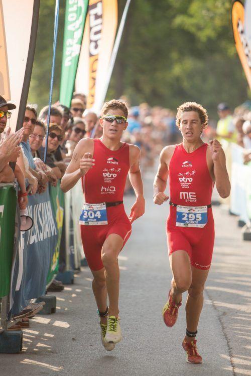 Noah Künz erkämpfte sich die Goldene über die Sprint-Distanz in Thiersee.VN-SAMS