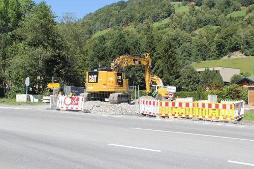 Noch bis September sollen die Bauarbeiten bei der Silvrettastraße andauern.STR