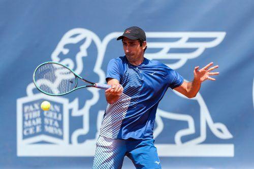 Philipp Oswald zeigt sich trotz Unklarheiten kämpferisch vor der Abreise zu den US Open in New York. GEPA