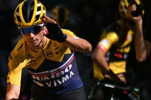 """Primoz Roglic und sein Jumbo-Team werden im Radsport die """"Killerwespen"""" genannt.ap"""