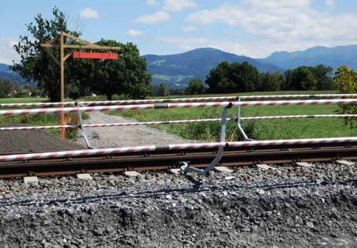 "Provisorischer Bahnübergang ""Im Birken"" ersetzt Unterführung Riedstraße. AJK"