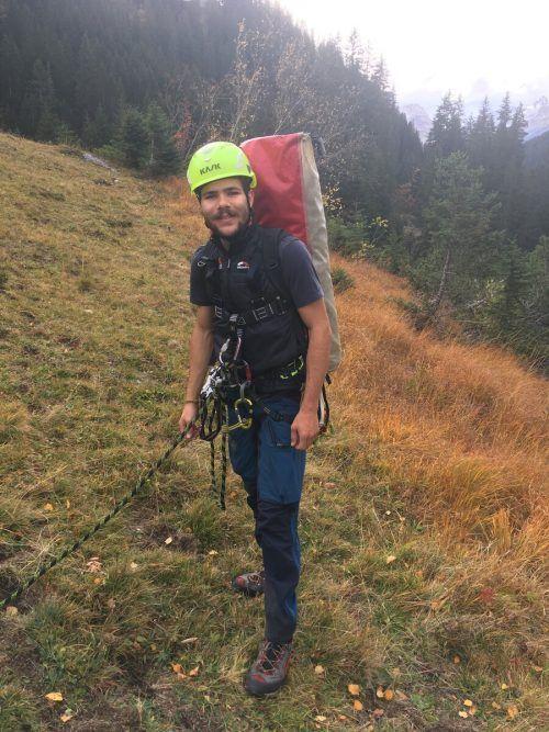 Raphael Meier ist bei der Bergrettung, beim Roten Kreuz und der Trachtengruppe. Meier