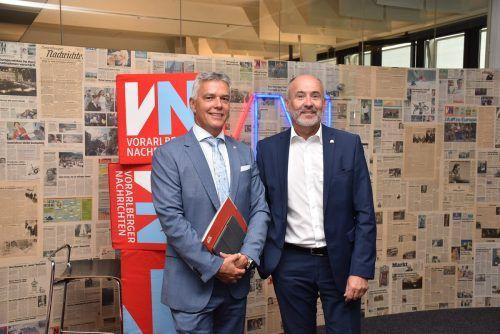 Regionaldirektor Markus Winkler und Vorstand Arno Schuchter sehen die Generali Versicherung für die Herausforderungen der Zeit gerüstet. VN