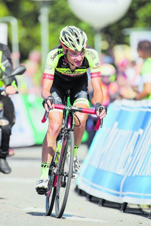 Roland Thalmann führt das Santic-Team bei der Tour de Savoie an.gepa