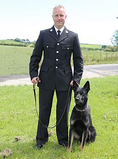 Schäferhund Max hat erst vor Kurzem seine Ausbildung abgeschlossen. Dyfed Powys Police