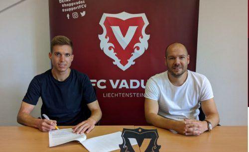 Sebastian Santin erhielt in Vaduz einen Zweijahresvertrag.FCVaduz