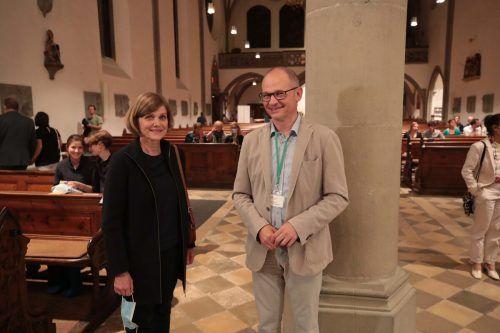 Statthalterin Barbara Schöbi-Fink und Thomas Doppelbauer.
