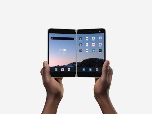 """""""Surface Duo"""" nennt sich das neue zweigeteilte Smartphone von Microsoft. RTR"""