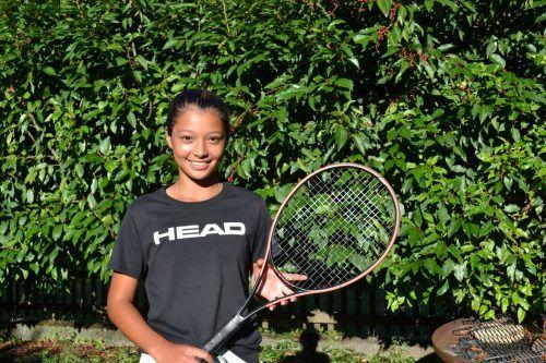 Sydney Starks Ziele haben alle mit Tennis zu tun. bi