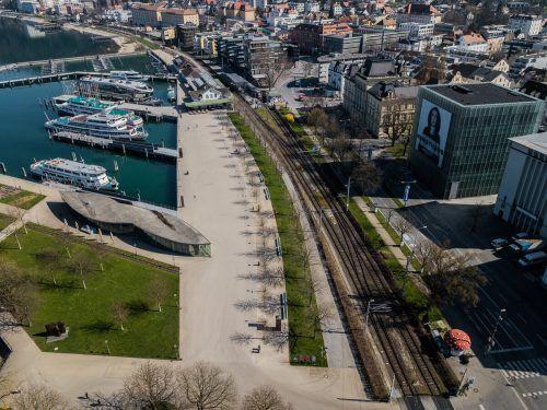 """Tittler zeigte sich zuversichtlich, """"dass wir aus diesen Aktivitäten wichtige Erkenntnisse für die zukünftige Verkehrsinfrastruktur im Raum Bregenz gewinnen werden"""". VN/Steurer"""