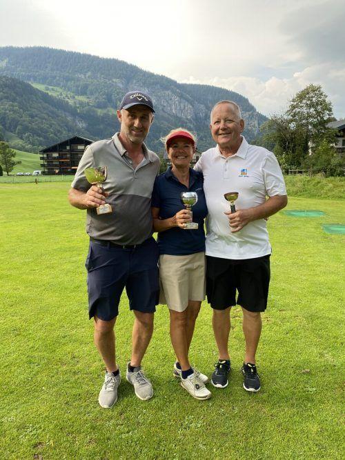 V. l.: Arnold Feuerstein, Anita Schwarzmann und Gebi Köb.gc Mellau