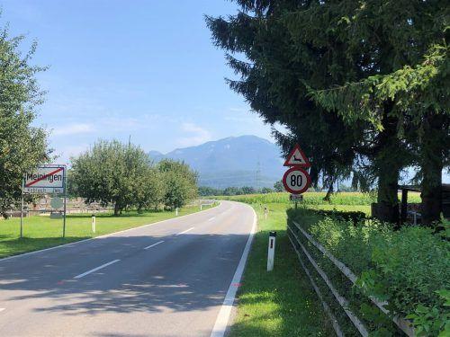 Von morgen, Mittwoch, 20 Uhr bis Freitag, 14. August, 6 Uhr ist die L55 zwischen Meiningen und Koblach für den gesamten Verkehr gesperrt. VN/WIM