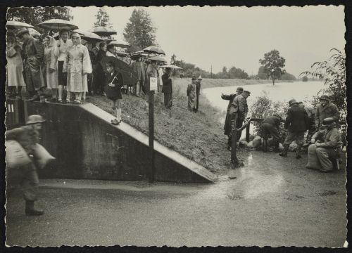 1954 suchte das Hochwasser Lustenau heim.