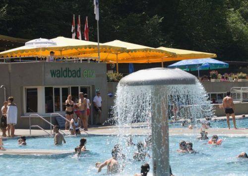 55.000 Besucher kamen heuer ins Waldbad Enz. Das ist geringfügig weniger als noch im vergangenen Jahr.mima