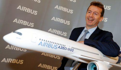 Airbus-Chef Faury sorgt mit Wasserstoff-Ankündigung für gute Stimmung. Reuters