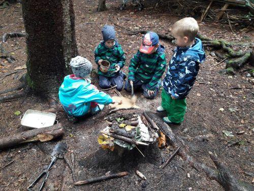 Hat es sich für die Kleinen im Wald bald ausgespielt? Die Vertreter der privaten Betreuungseinrichtungen hoffen auf eine Lösung.spielkiste