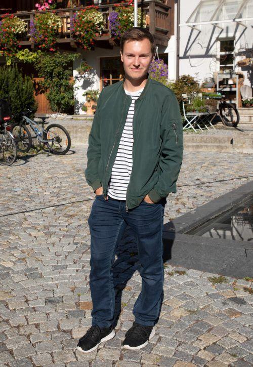 Benedikt Drexel (24) tritt für die Grünen und Parteifreien Nenzing an.