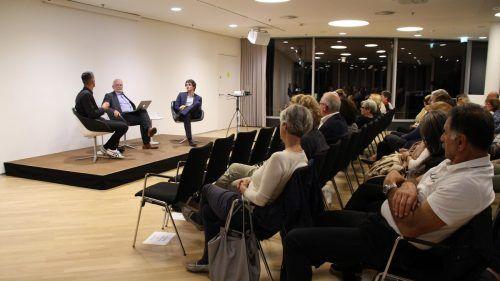 Bernd Bickel, Wolfgang Burtscher und Maximilian Hirn diskutierten über die Zukunft der Stadt.Heilmann