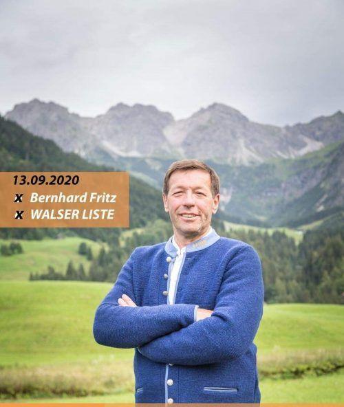 Bernhard Fritz (55) geht für die Walserliste ins Rennen.