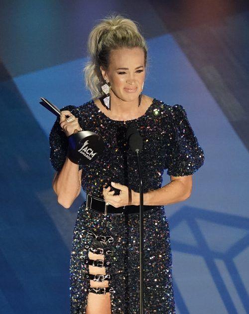 Carrie Underwood war als einzige Frau in der Top-Sparte nominiert. AP