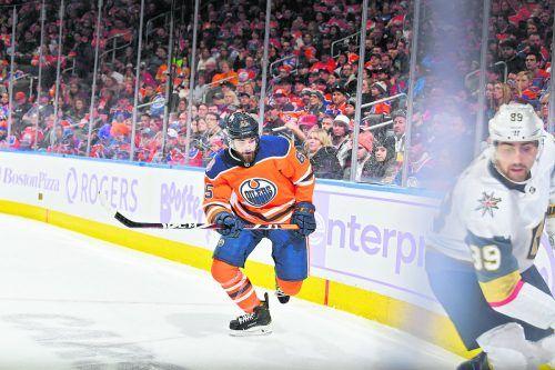 Cooper Marody trug sechs Mal das Dress der Edmonton Oilers in der NHL.Devlin/DEC