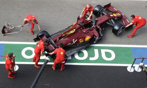 Das Ferrari-Auto von Sebastian Vettel wird jetzt vor dem Wechsel zu Aston Martin nur noch wenige Male gebraucht werden.AP