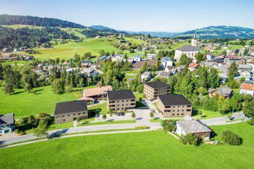 Das neue Wohnquartier Schwarzen von Holzbau Sohm in Alberschwende. Thomas Knapp
