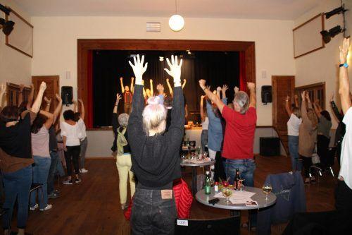 Das Publikum konnte den Theaterabend aktiv mitgestalten.