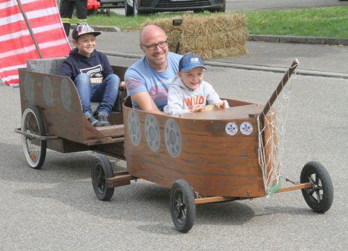 Das schon traditionelle Seifenkistenrennen gehört jedes Jahr zum großen Sommerferienabschlussfest in Hörbranz.chf